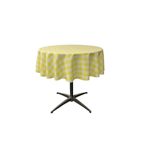 poly checkered round tablecloth