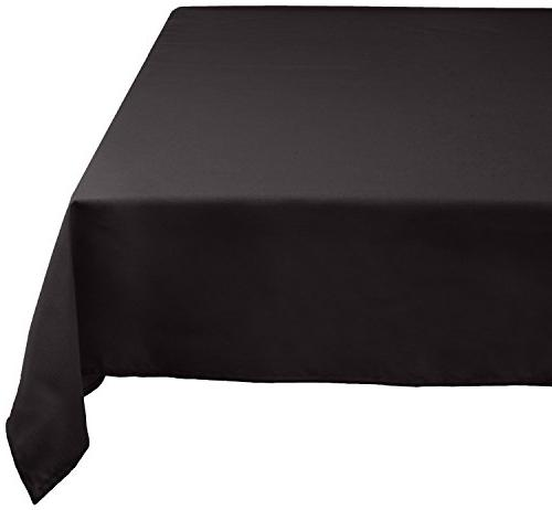 Generic 100% Machine Washable, Holiday, Tablecloth Black, 12