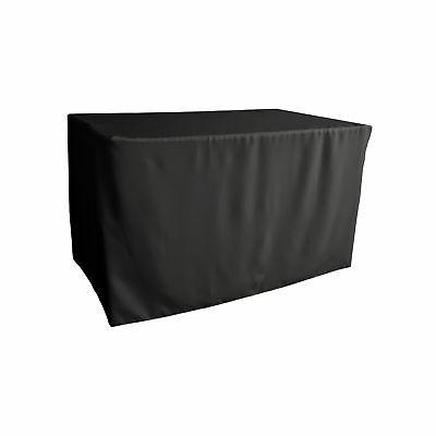 polyester poplin fitted tablecloth 48 l x