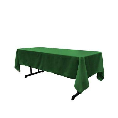 polyester poplin rectangular tablecloth 60 x 108