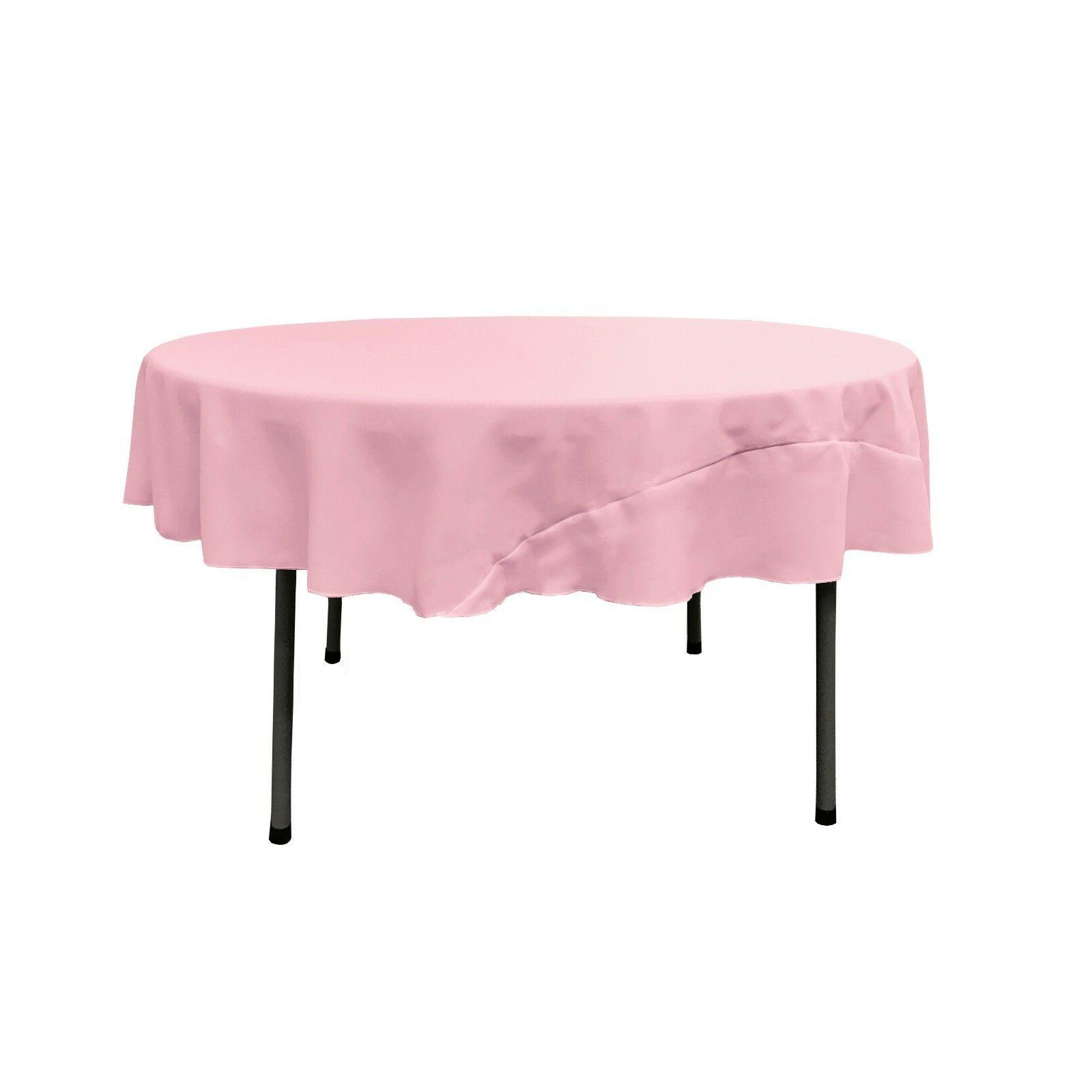polyester poplin round tablecloth 72 inches made