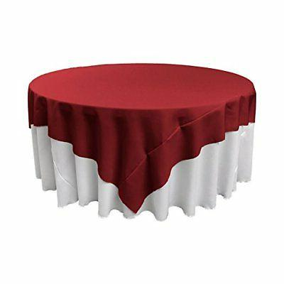 polyester poplin square tablecloth 84 inch cranberry