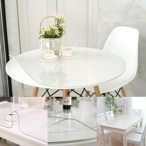 pvc clear rectangular round table protector transparent