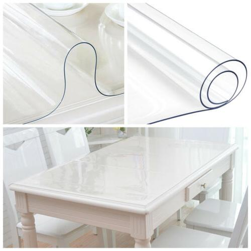 pvc clear rectangular table cover protector transparent