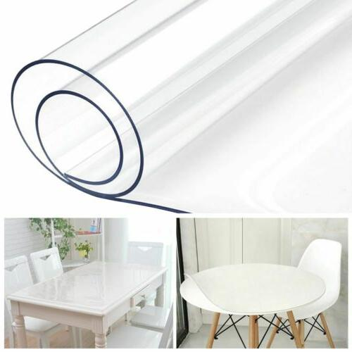 PVC Clear Fitted Table Cloth Waterproof Clean
