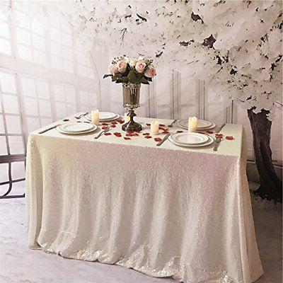 TRLYC Rainbow 60 by 102 Tablecloth Wedding Party Banquet