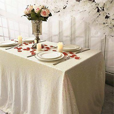 TRLYC Rainbow by 102 -Inch Tablecloth for Wedding Party Banquet