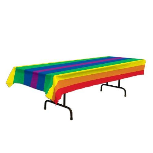 rainbow pride table cover party
