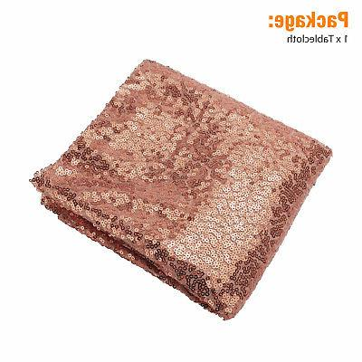 Rectangle Sequin Glitter Sparkly Cover Wedding Party