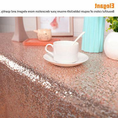 Rectangle Glitter Sparkly Table Cloth Wedding