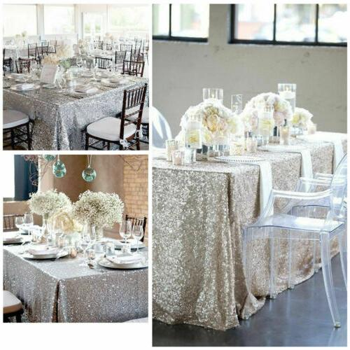 Rectangle Sequin Sparkly Cloth Cover Wedding US