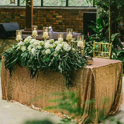 Rectangle Glitter Sparkly Table Cloth Wedding Party