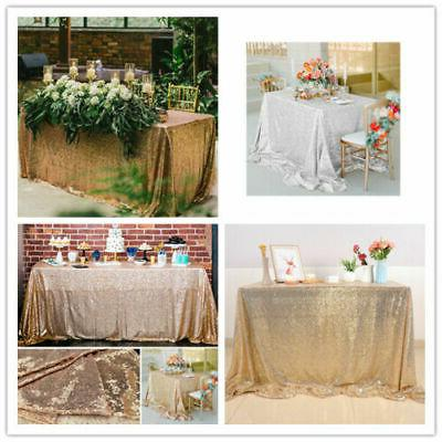 rectangle sequin glitter tablecloth sparkly table cloth