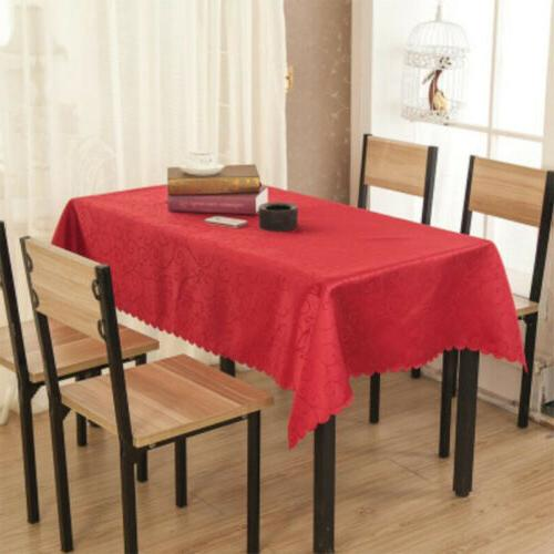 rectangular jacquard polyester tablecloth dining table cover