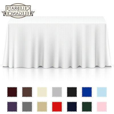 rectangular wedding banquet polyester fabric tablecloth many