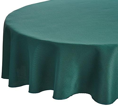 round polyester tablecloth hunter