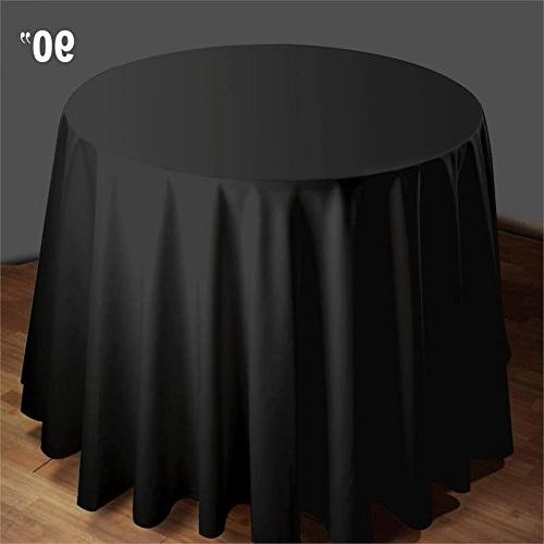 round polyester tablecloth wedding table