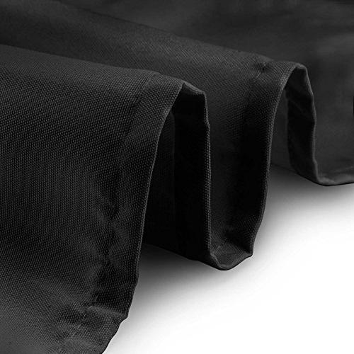 Lann's Linens Polyester Tablecloth - use x in. , Black