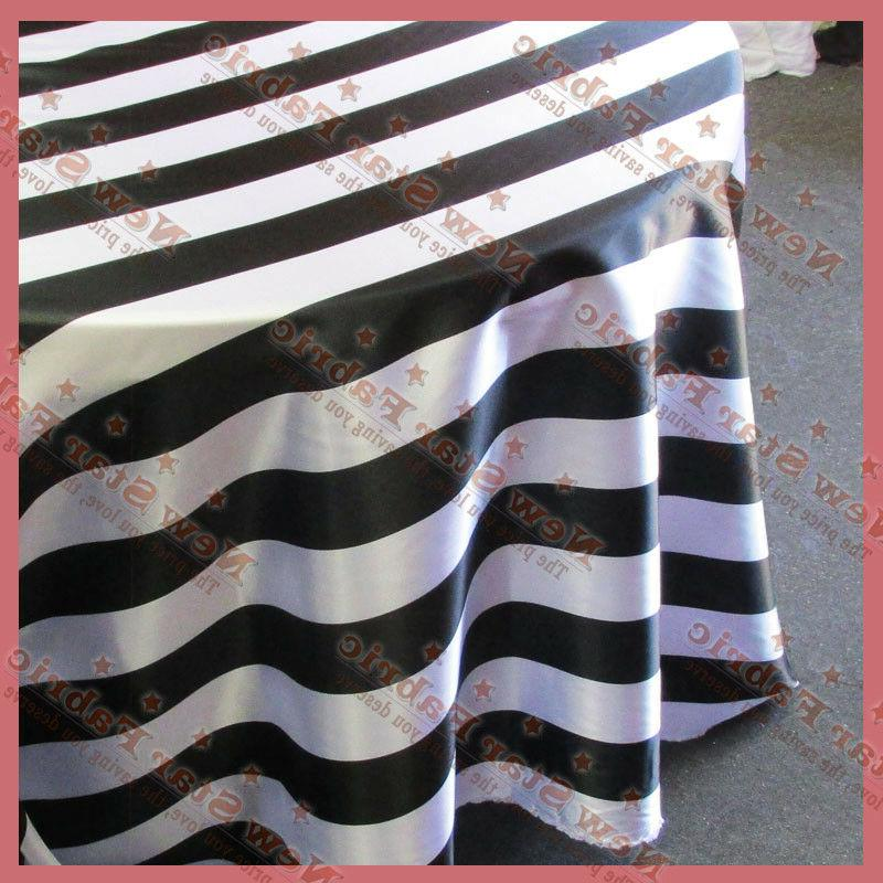 round tablecloth 108 round stripe charmeuse 3