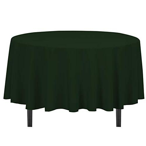 Round Tablecloth 90'' Banquet Table Cloth Cover Holiday Home