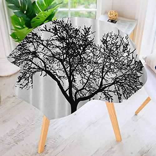 round tablecloth polyester home textile