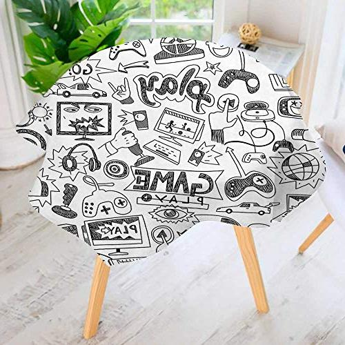 round tablecloth polyester sketch gaming