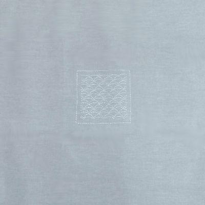 Yves Delorme Sashiko Grey Tablecloth Embroidery