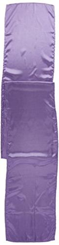 LinenTablecloth 14 x 108-Inch Satin Table Runner Lavender