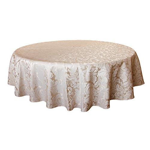 ColorBird Scroll Damask Tablecloth Spillproof Waterproof Fabric Table Cover Kitchen Dinning