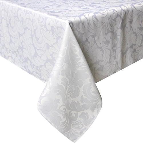 damask jacquard tablecloth spillproof heavy