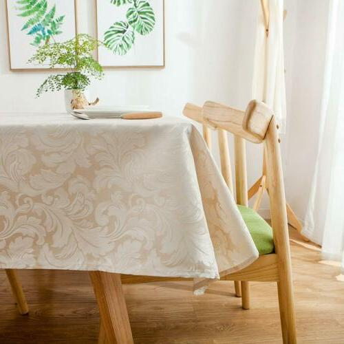 ColorBird Scroll Tablecloth Spillproof Fabric