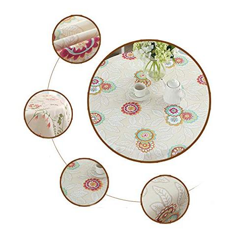 cobeDecor Search Wrinkle Modeling Language with Round Tablecloth D Yellow