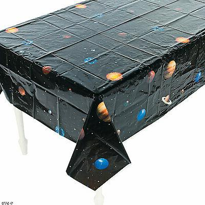 solar system table cover tablecloth birthday party