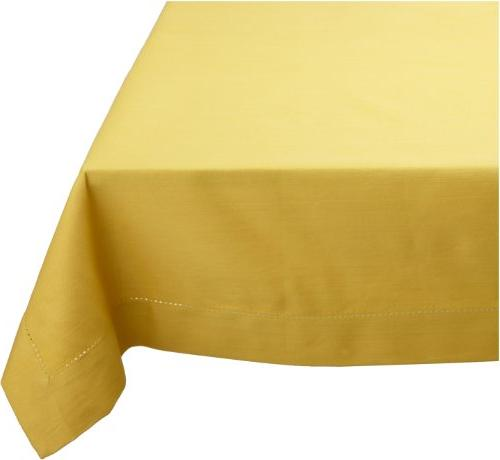 solid cotton hemstitch tablecloth
