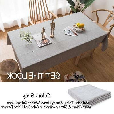 ColorBird Solid Embroidery Tablecloth Table