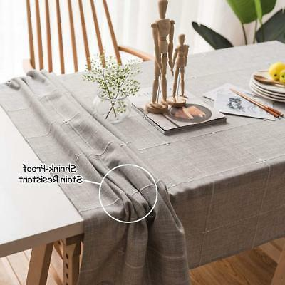 ColorBird Embroidery Tablecloth Cotton Table