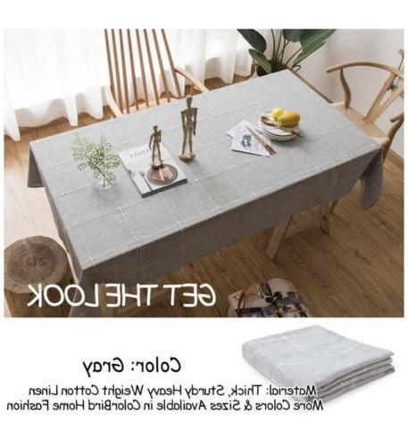 ColorBird Embroidery Tablecloth Cotton Oblong