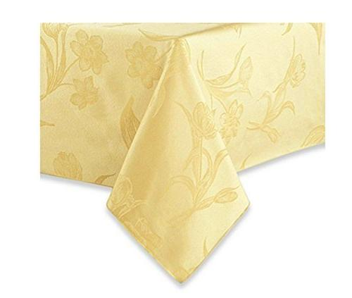 spring blossoms butter yellow fabric