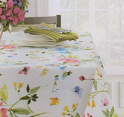 Benson Spring Tablecloth with Butterflies Flowers 84