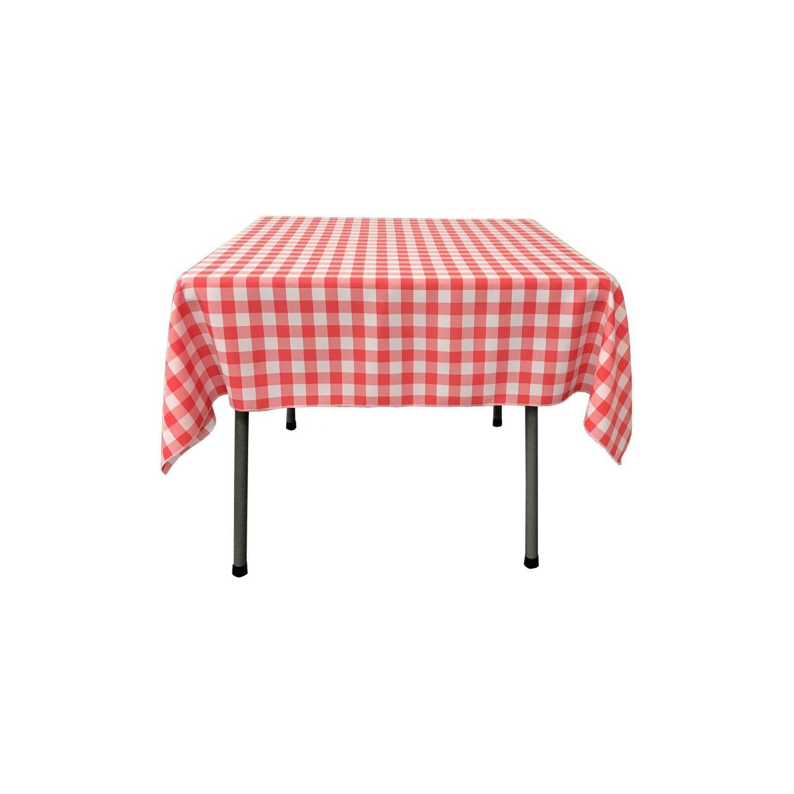square checkered tablecloth 52 by 52 inches