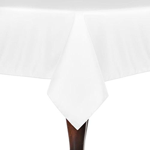 square polyester linen tablecloth