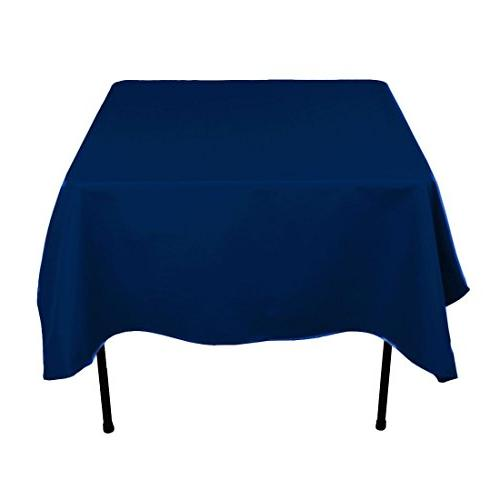 square polyester tablecloth navy