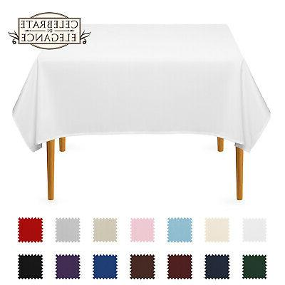 square wedding banquet polyester fabric tablecloth many