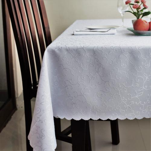Stain Resistant Turkish White Easter Tablecloth Polyester Ta