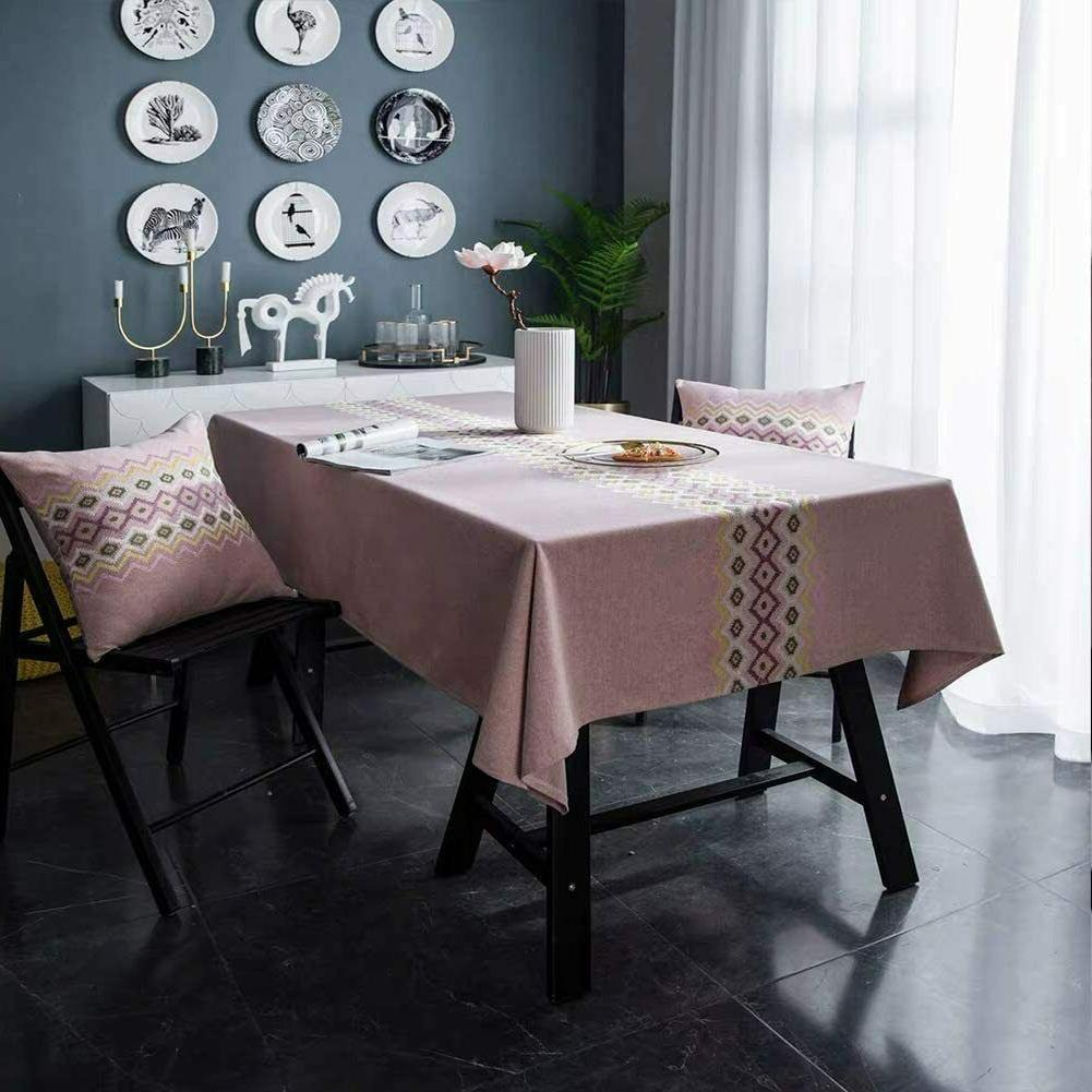Stitching Tassel Dust-Proof Cotton Linen Dining Party Table