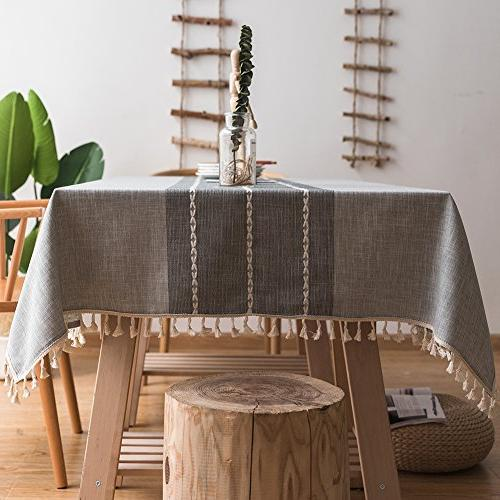 stitching tassel tablecloth heavy cotton
