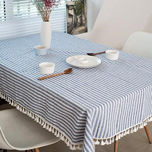 ColorBird Stripe Cotton Cover for Kitchen Tabletop Decoration