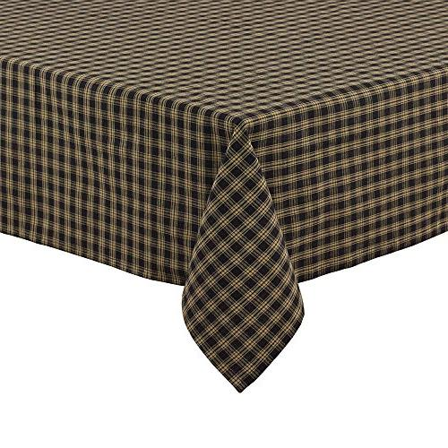 "Park Designs Sturbridge Table Cloth, 60 by 84"", Black Home K"