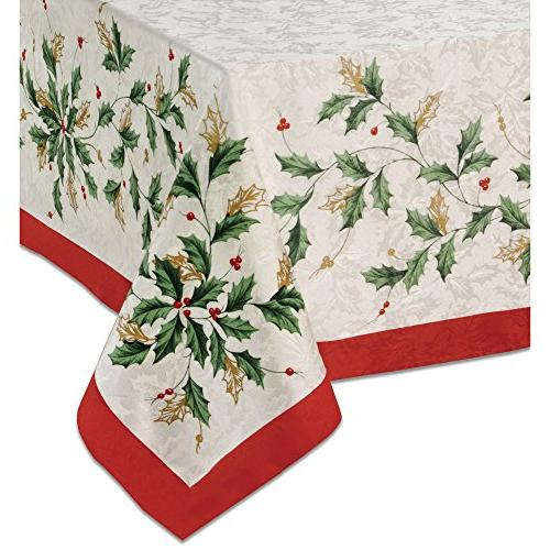 golden holly oblong rectangle tablecloth