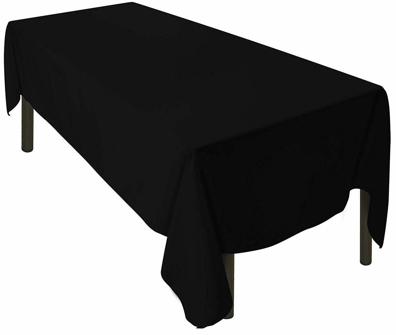 tablecloth rectangle polyester 60 x126 black table
